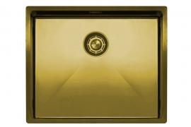 Harjatud kuldne valamu. L 18-70cm. Cube Brass