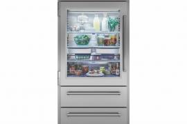 Pro seeria külmik/sügavkülmik klaasist uksega. L 91cm. ICBPRO3650G