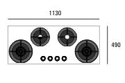 i-Cooking gaasiplaat 4 põletiga