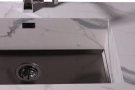 Roostevabast terasest tumehall valamu põhi. 50x40cm. Phantom 5555 046
