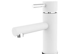 Valge roosteba terasest vannitoa segisti