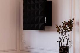 Keraamiline õhupuhastaja seinale, L 60cm, must. SL116B