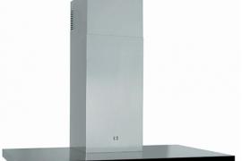 T-kujuline õhupuhastaja seinale L 90cm, must klaaspaneel