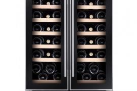 Integreeritav veinikülmik tööpinna alla, must klaas