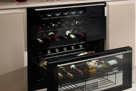 Integreeritav veinikülmik kahe sahtliga, L 80 cm